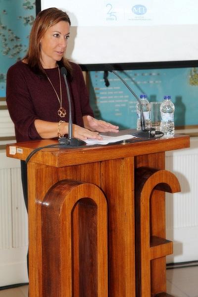 H Ντέπη Τζιμέα, Executive Director Εταιρικής Επικοινωνίας Ομίλου ΟΤΕ, κατά την παρουσίαση των εκπαιδευτικών προγραμμάτων του Μουσείου