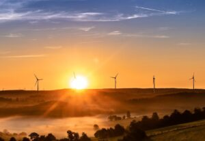 sunrise, wind farm, wind park-3579931.jpg